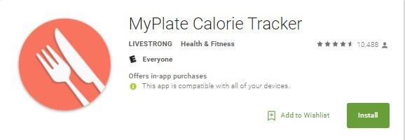 5. MyPlate by LiveStrong