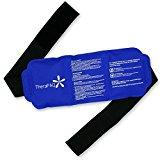 Thera Health Ice Pack for Injury - 14 Inch x 6 Inch Hot & Cold Gel Compress for Back, Ankle, Knee, Arm and Shoulder w/Adjustable Strap