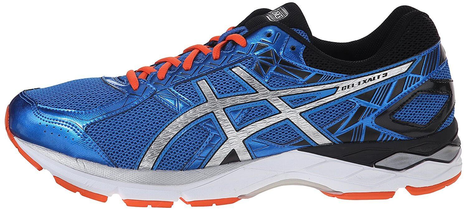 A side view of the Asics Gel Exalt 3