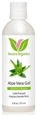 Amara Organics (Cold Pressed) Aloe Vera Gel from Organic, 8 fl. oz.
