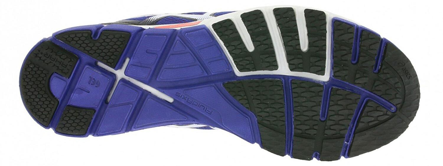 A bottom view of the Asics Gel Excel33