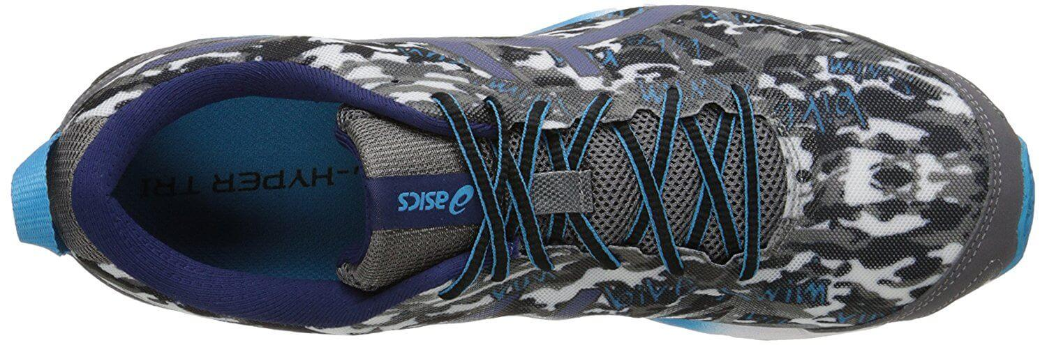 A top view of the Asics Hyper Tri