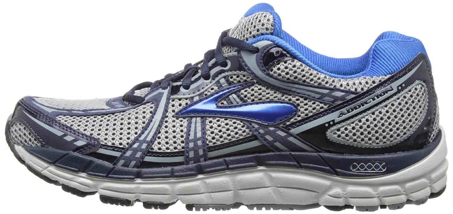 A side view of the Brooks Addiction 11 running shoe