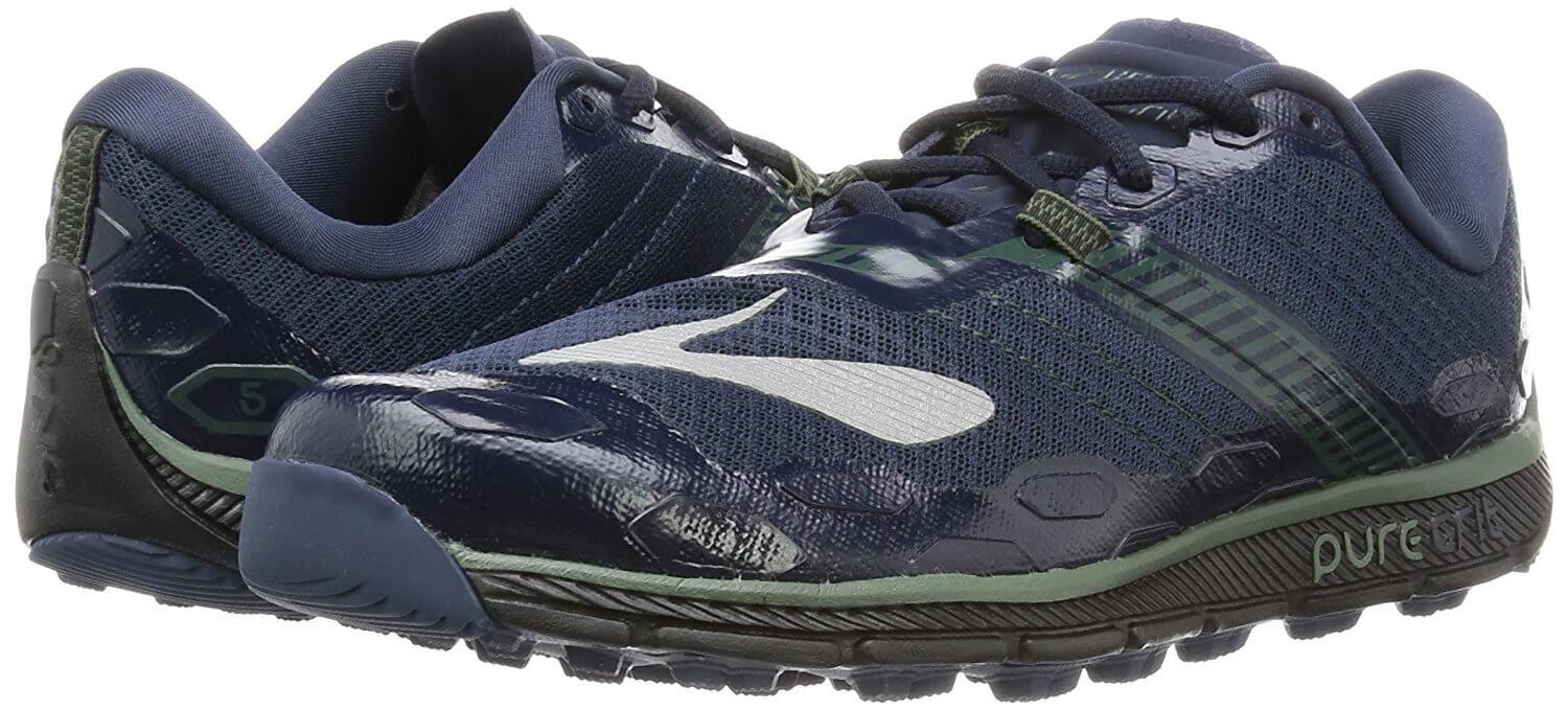 A pair of the Brooks PureGrit 5 running shoe