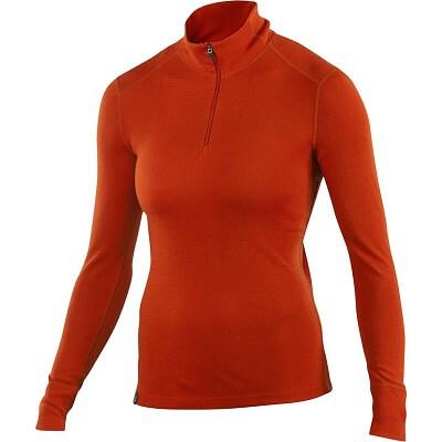 9. Ibex Women's Zip T-Neck Base Layer Top