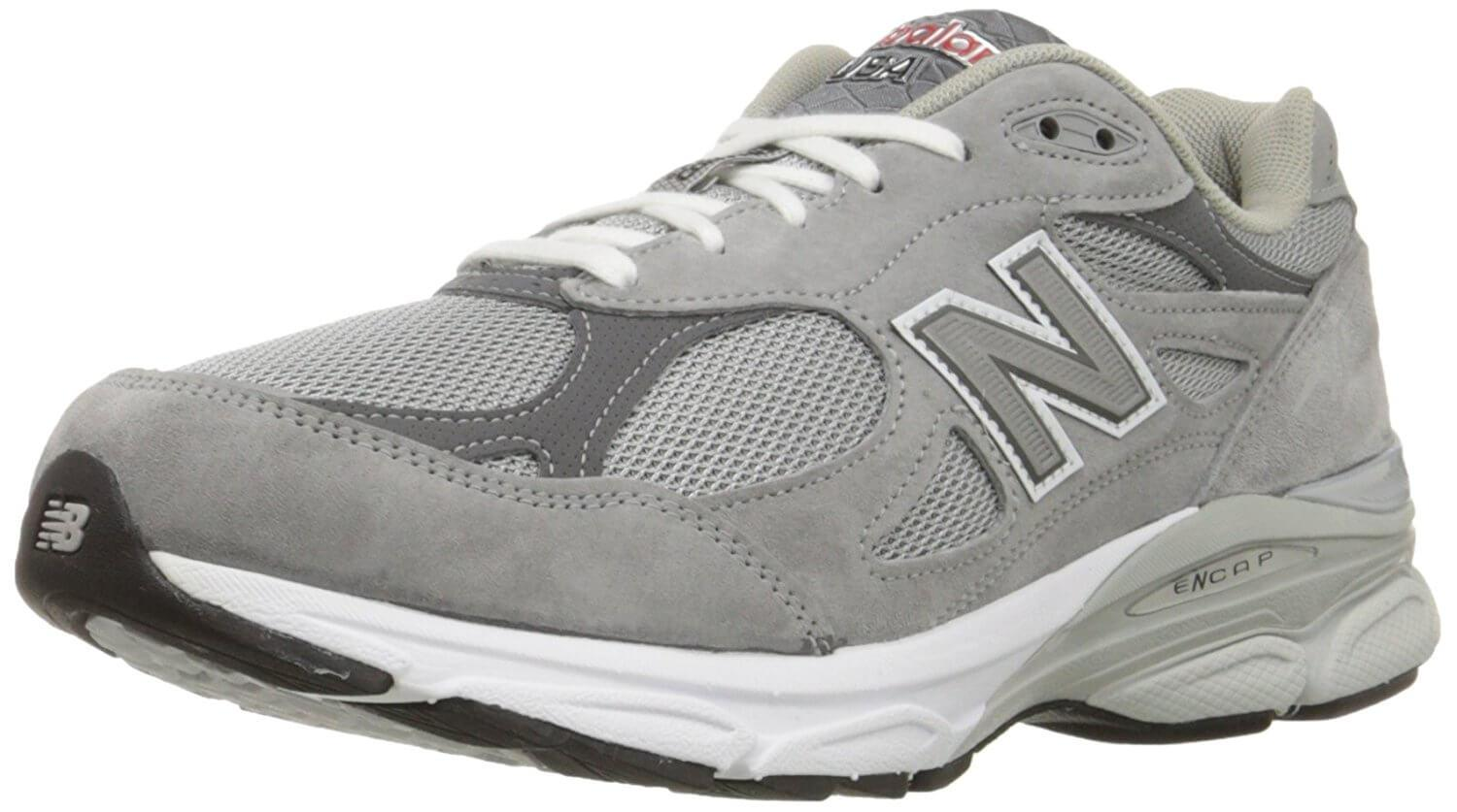 A three quarter perspective of the New Balance 990v3 running shoe ...