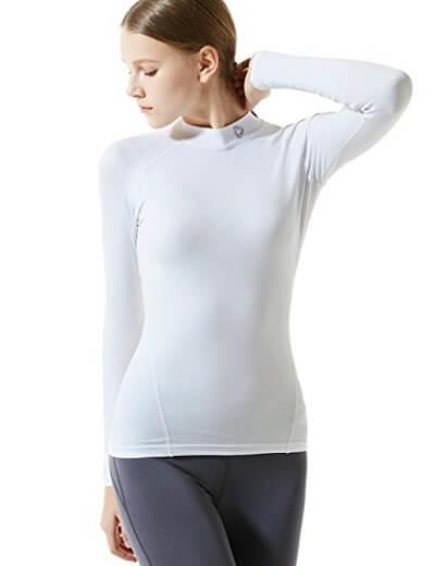 5. Tesla Women's Coldgear Compression Mock Long Sleeve