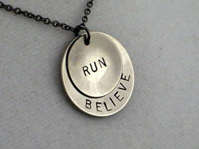 10. Believe in Your Run Necklace