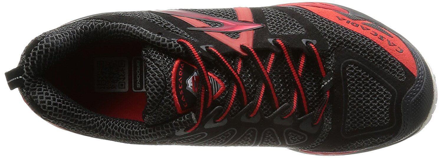 A top view of the Brooks Cascadia 9 running shoe