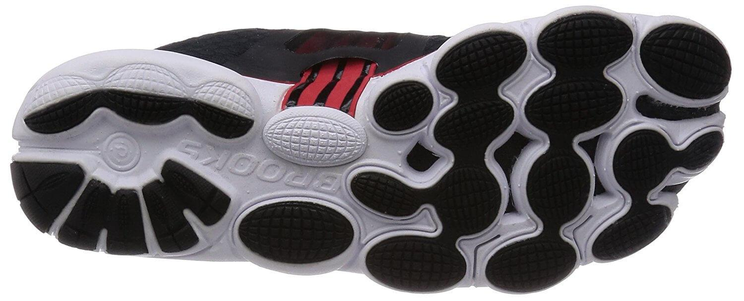 A bottom view of the Brooks PureConnect 4 running shoe