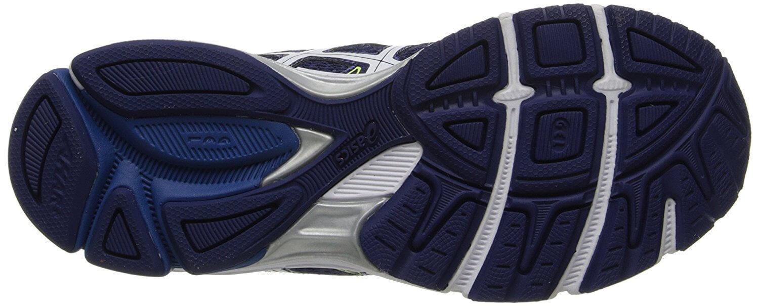 A bottom view of the ASICS Gel Exalt 2 running shoe