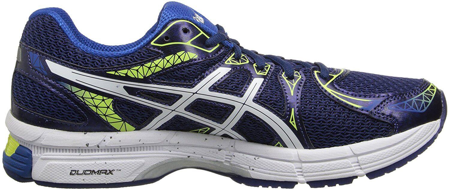 A side view of the ASICS Gel Exalt 2 running shoe
