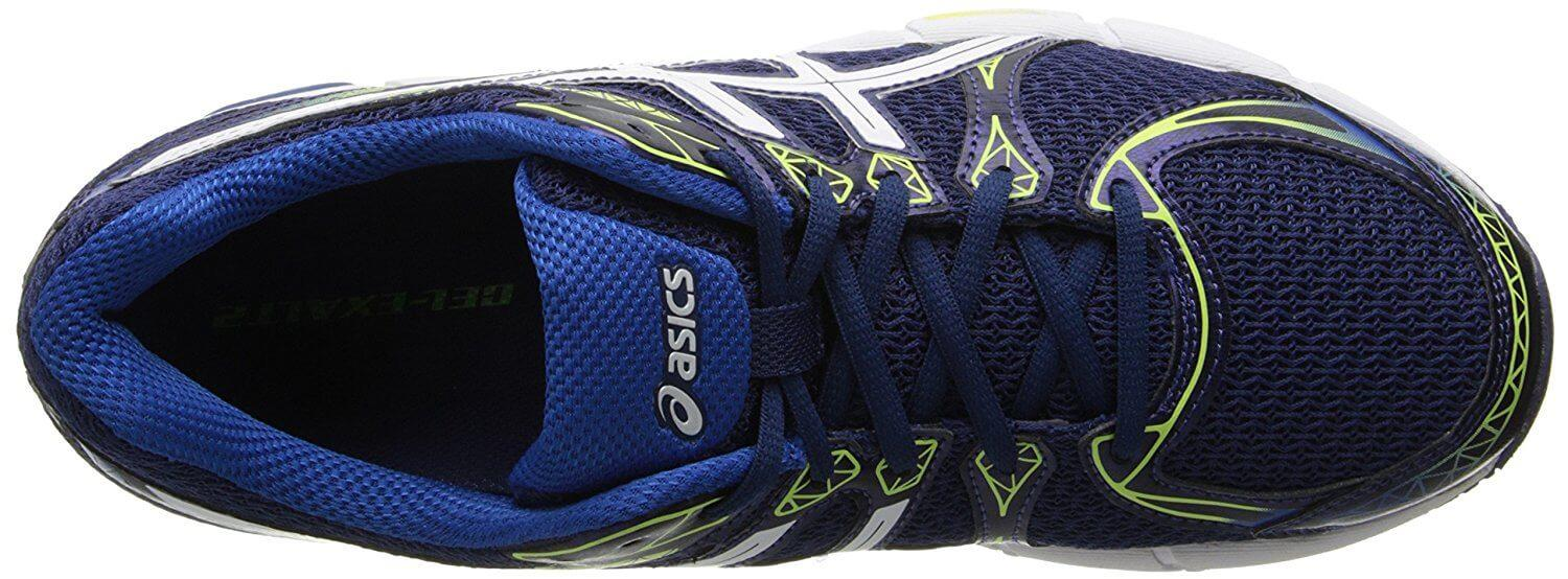 A top view of the ASICS Gel Exalt 2 running shoe