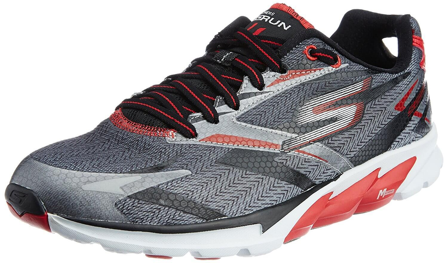 A three quarter perspective of the Skechers GoRun Ride 4 running shoe