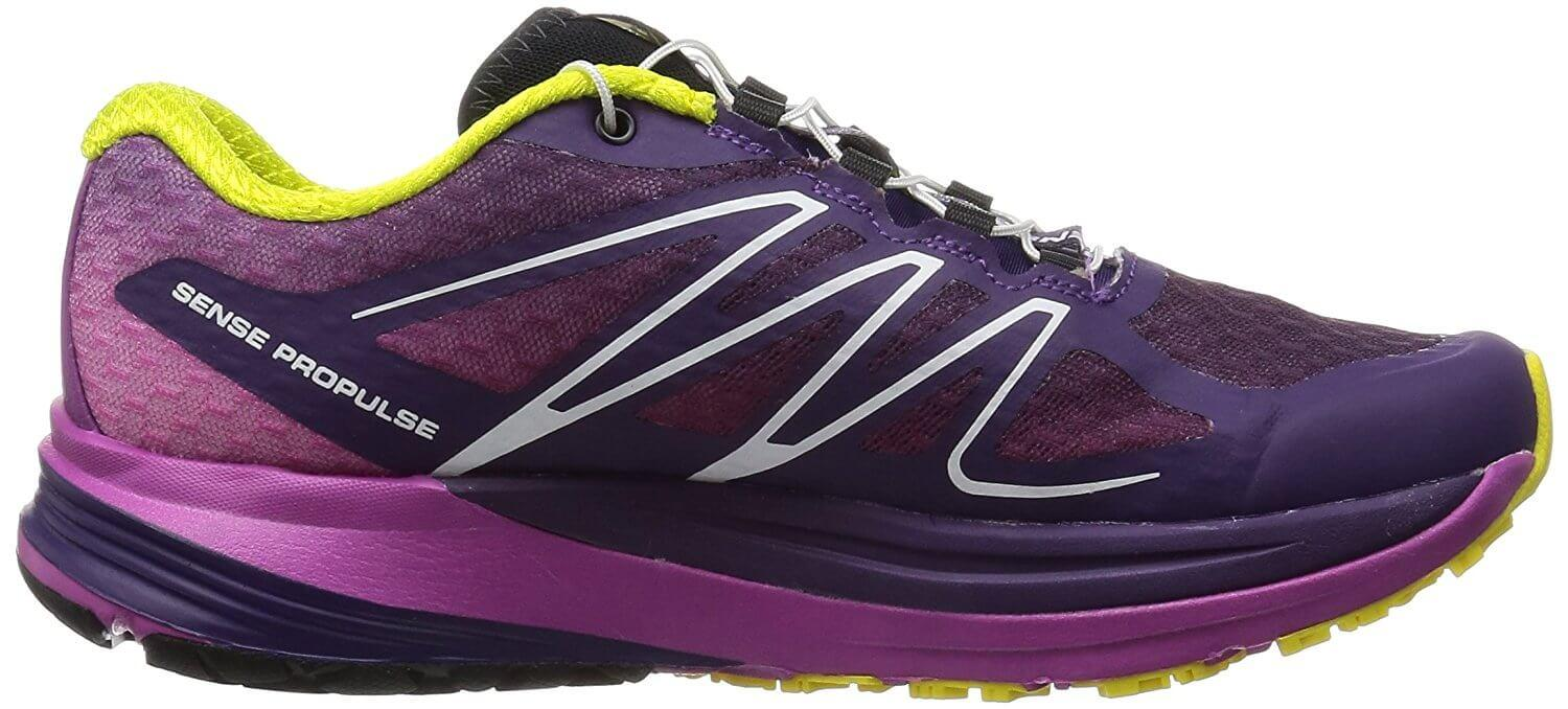 A lateral view of the Salomon Sense ProPulse trail running shoe
