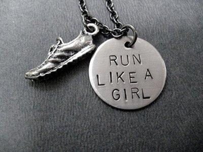 5. Run Like A Girl Pewter Necklace