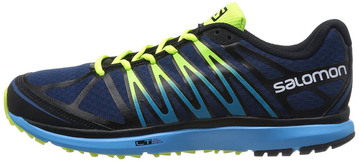 A side view of the Salomon X Tour trail running shoe