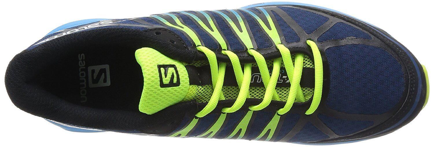 A top view of the Salomon X Tour trail running shoe