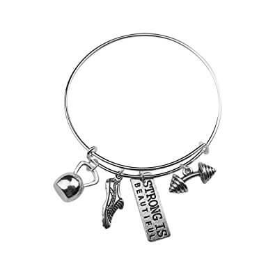 7. Strong is Beautiful Running Bracelet