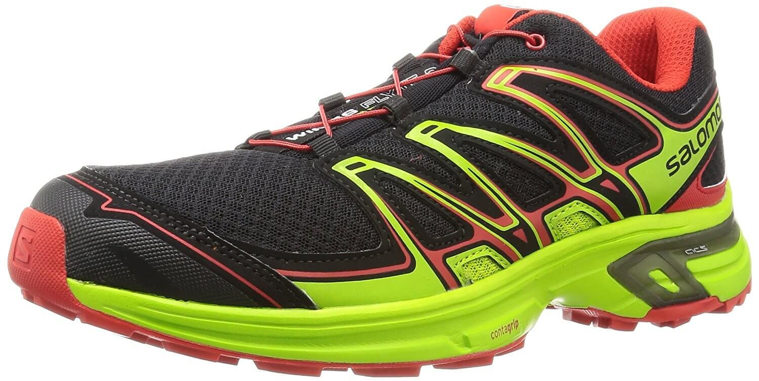 A three quarter perspective of the Salomon Wings Flyte 2 trail running shoe