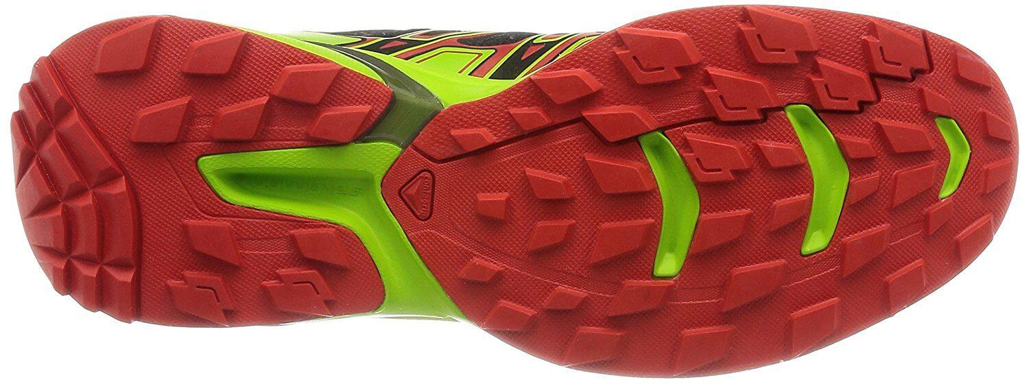 A bottom view of the Salomon Wings Flyte 2 trail running shoe