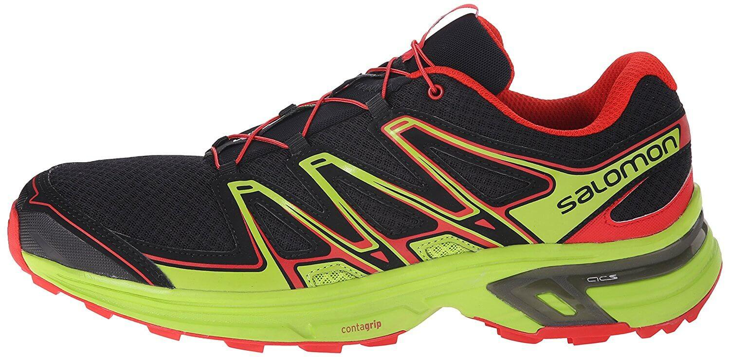 A lateral side view of the Salomon Wings Flyte 2 trail running shoe