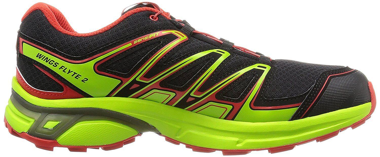 A medial side view of the Salomon Wings Flyte 2 trail running shoe