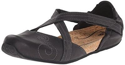 8.  Ahnu Karma Latitude Leather Ballet Flat