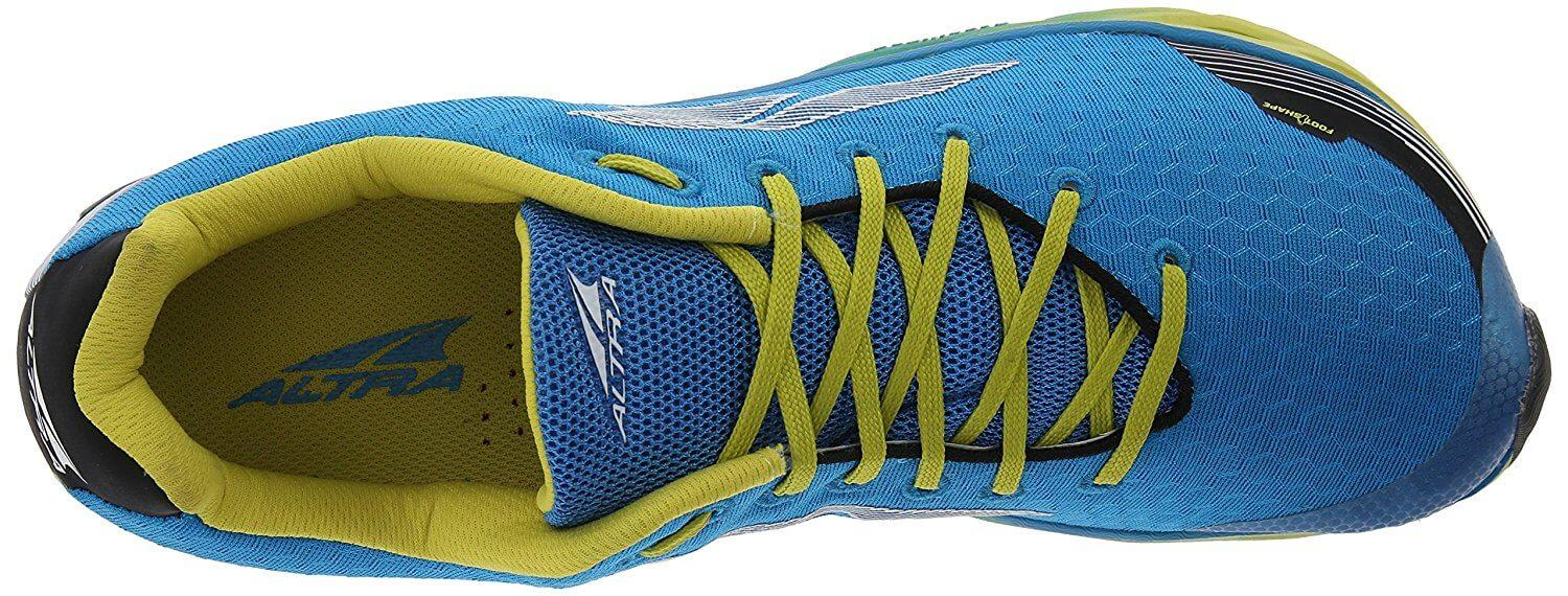 the top of the Altra Impulse has lightweight synthetic overlays and quick-dry air mesh