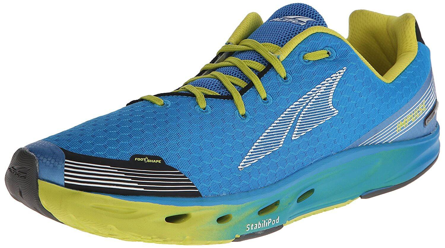 Tthe Altra Impulse shown from the front/side.
