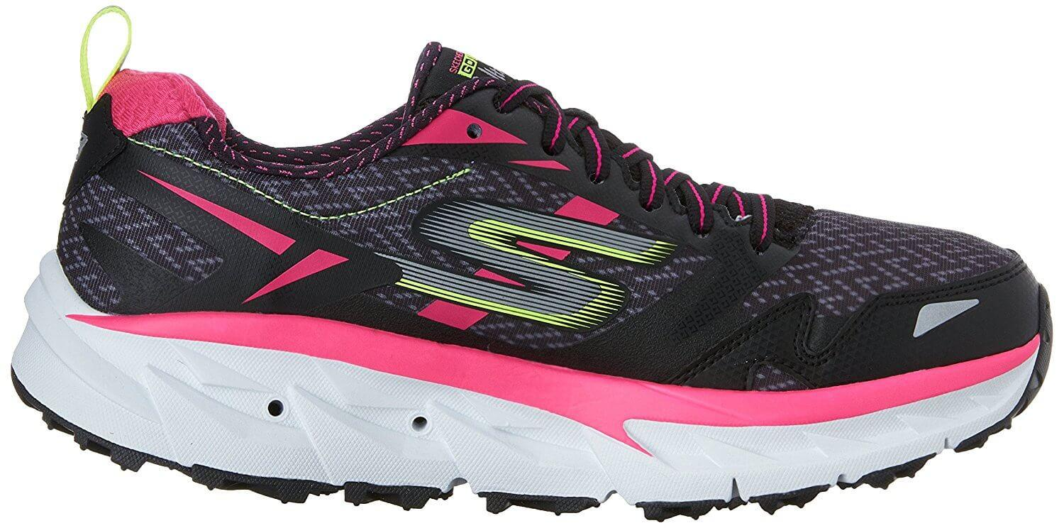The Skechers GOTrail Ultra 3 is a maximalist cushioned shoe