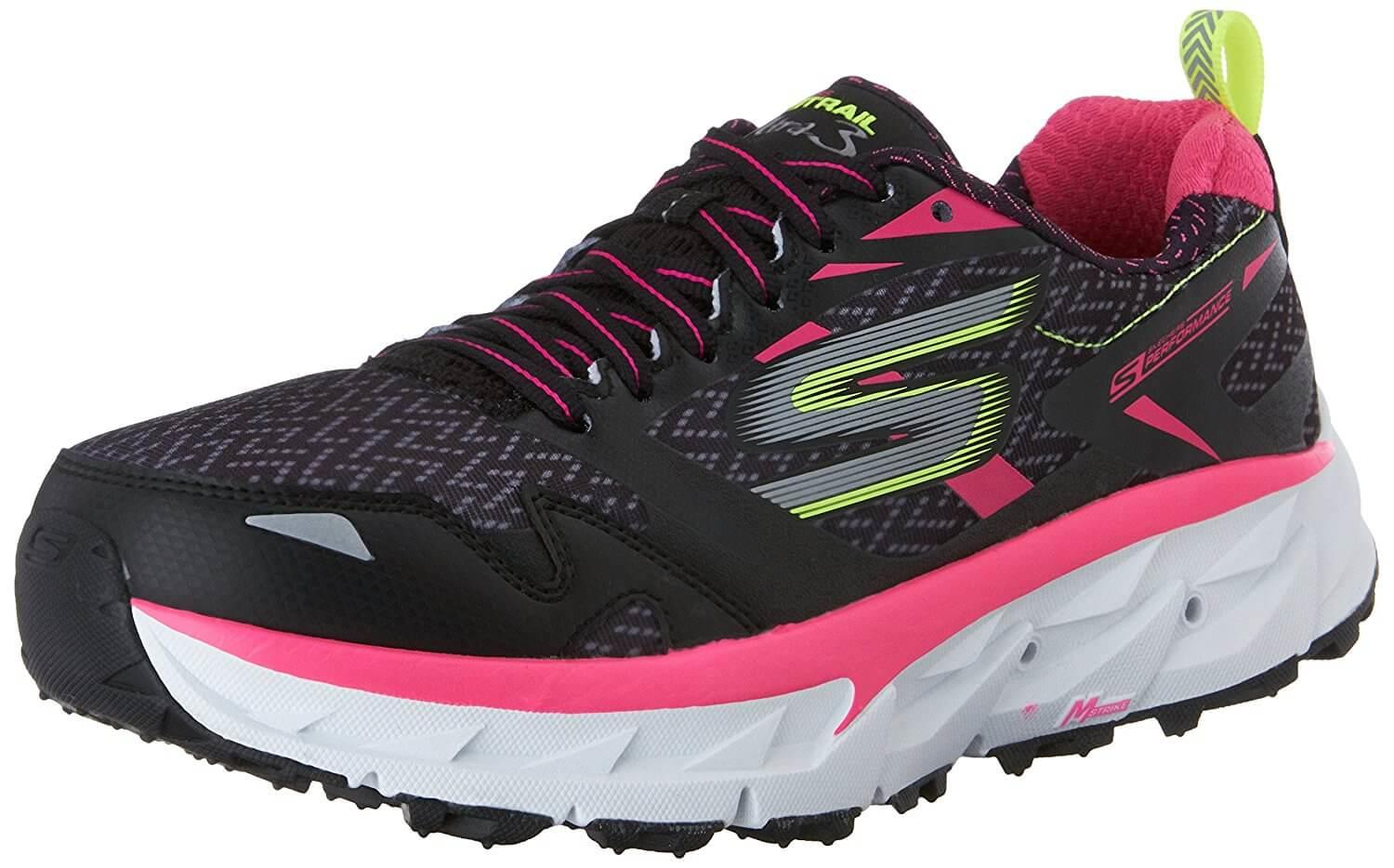 The Skechers GOTrail Ultra 3 shown from the front side