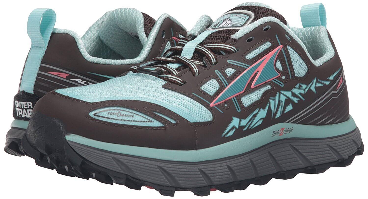 The Altra Lone Peak 3.0 feature more aggressive lugs for difficult trails.