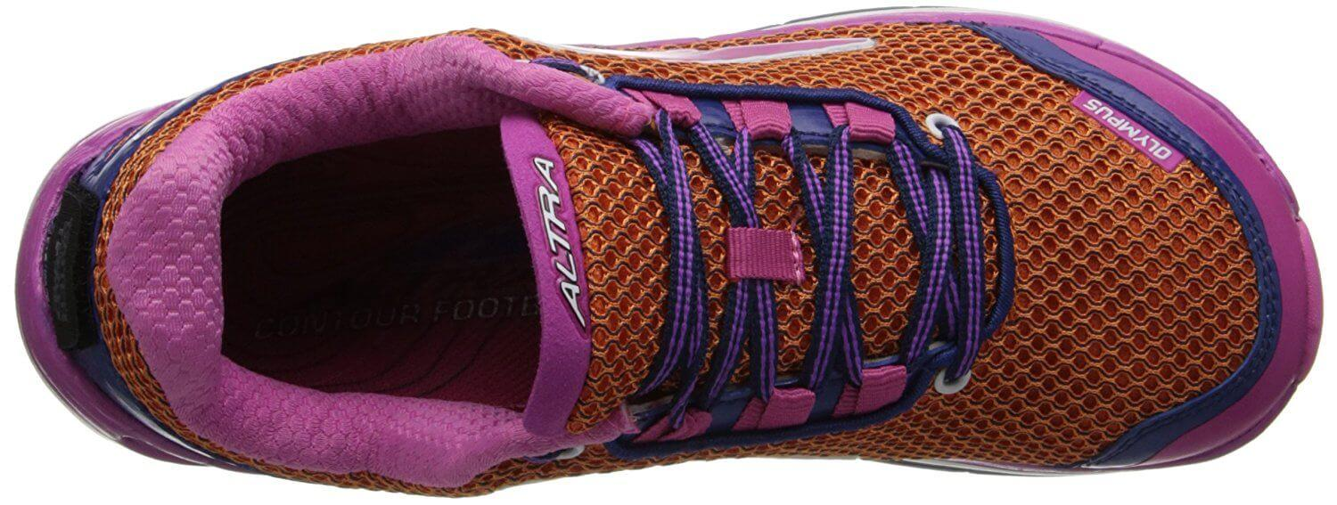 Breathable and flexible upper of the Altra Olympus
