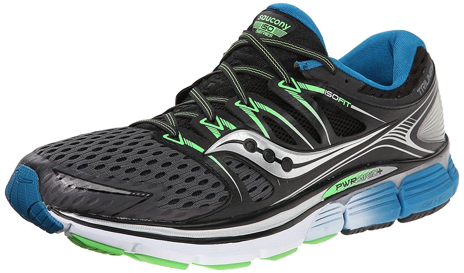 The Saucony Triumph ISO shown from front/side.
