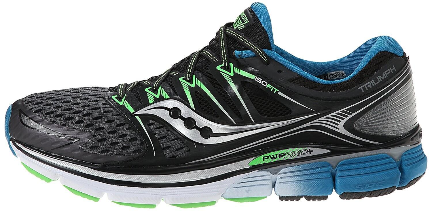 The Saucony Triumph ISO is known for it's signature side design.