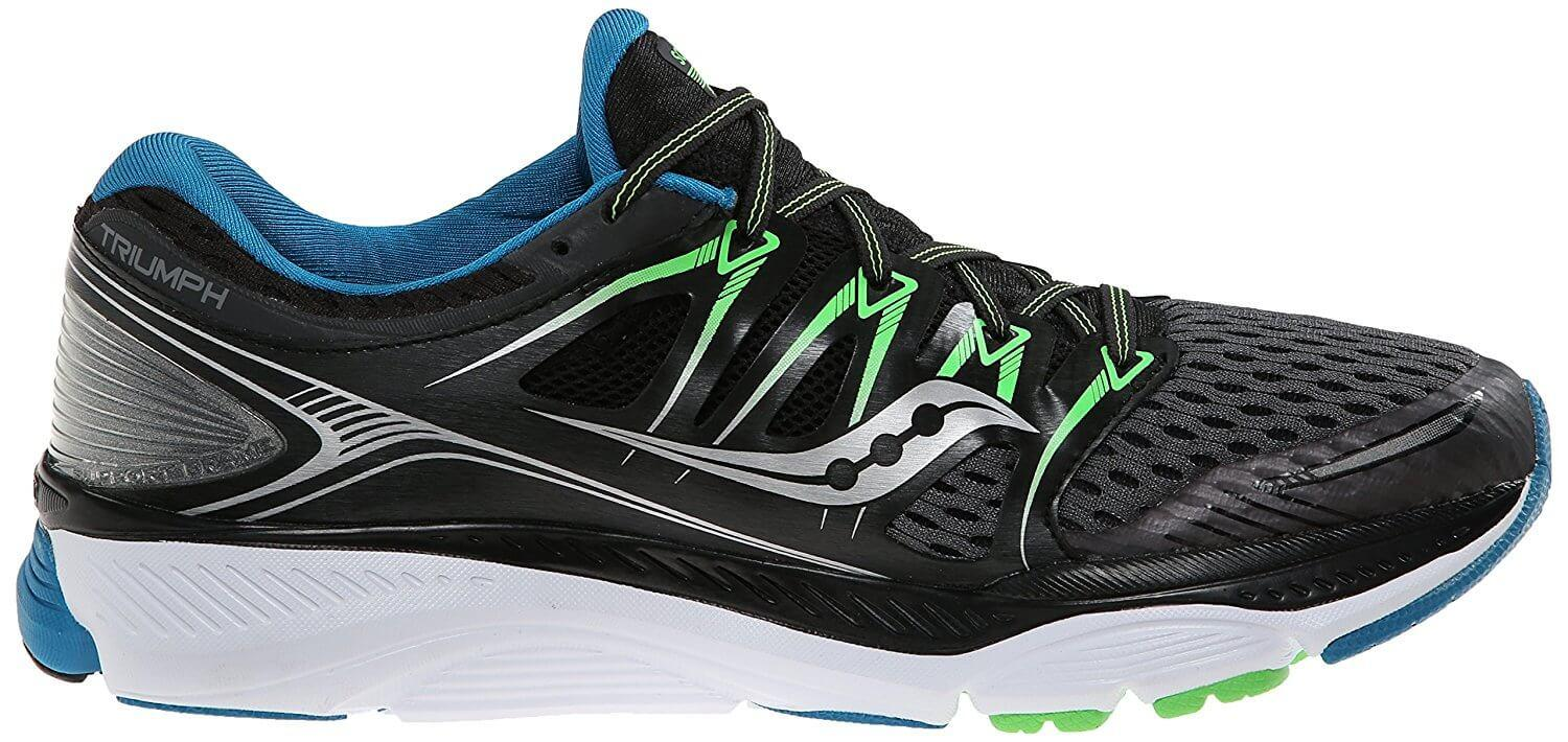 A good look at the 8 mm heel drop of the Saucony Triumph ISO.
