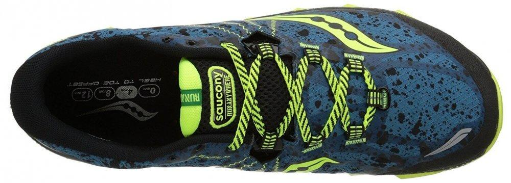 Saucony Nomad TR protective upper and secure lacing system