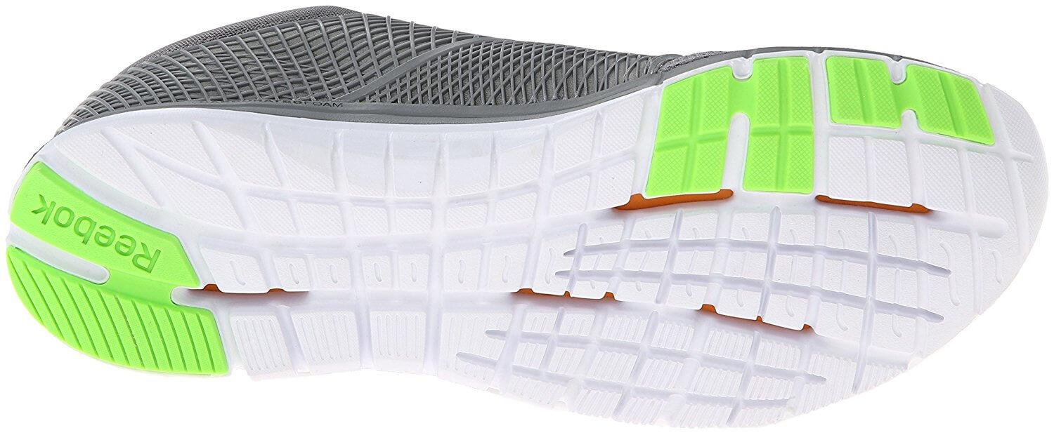 Reebok ZQuick dash flexible sole with great traction