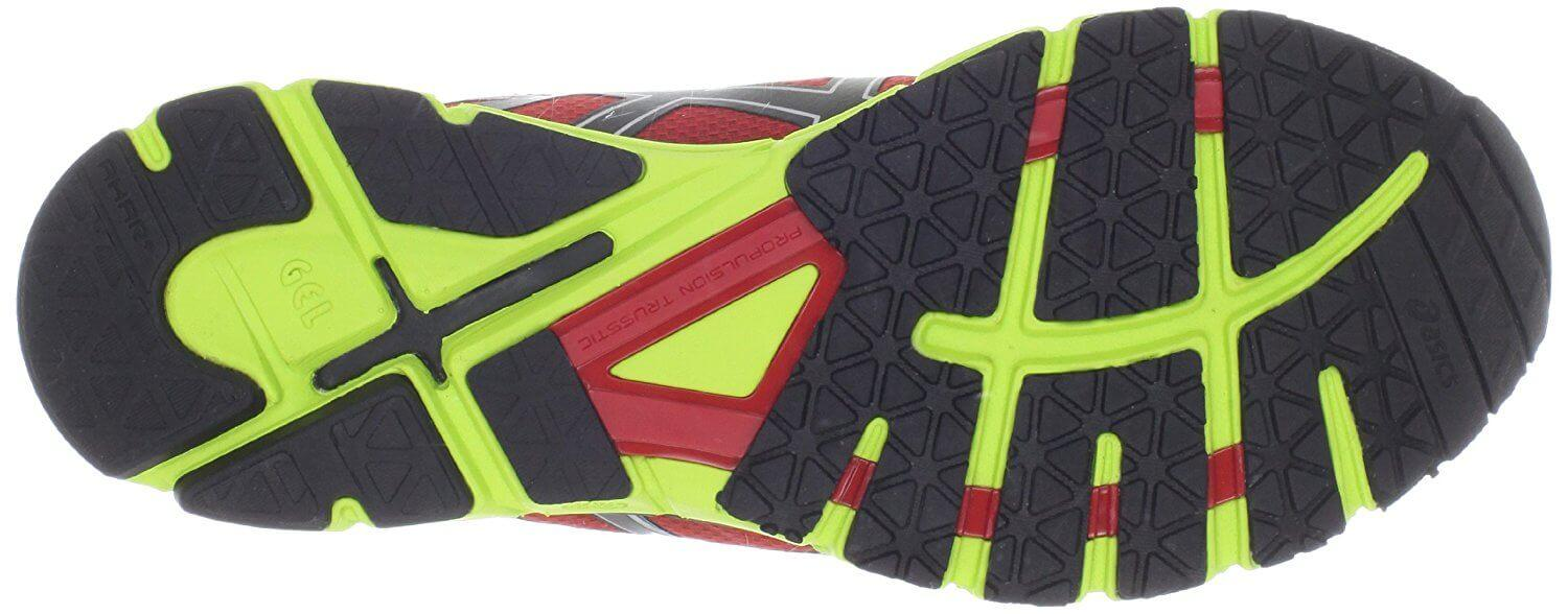 Durable outsole of the Asics Gel Excel33, great for road running