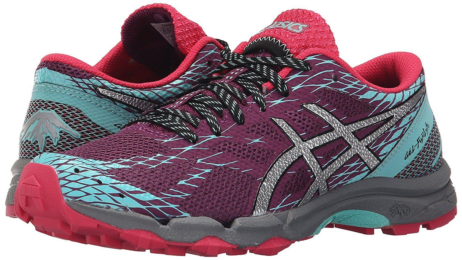 Pair Of Asics Gel Fujilyte with bright colors and streamlined design