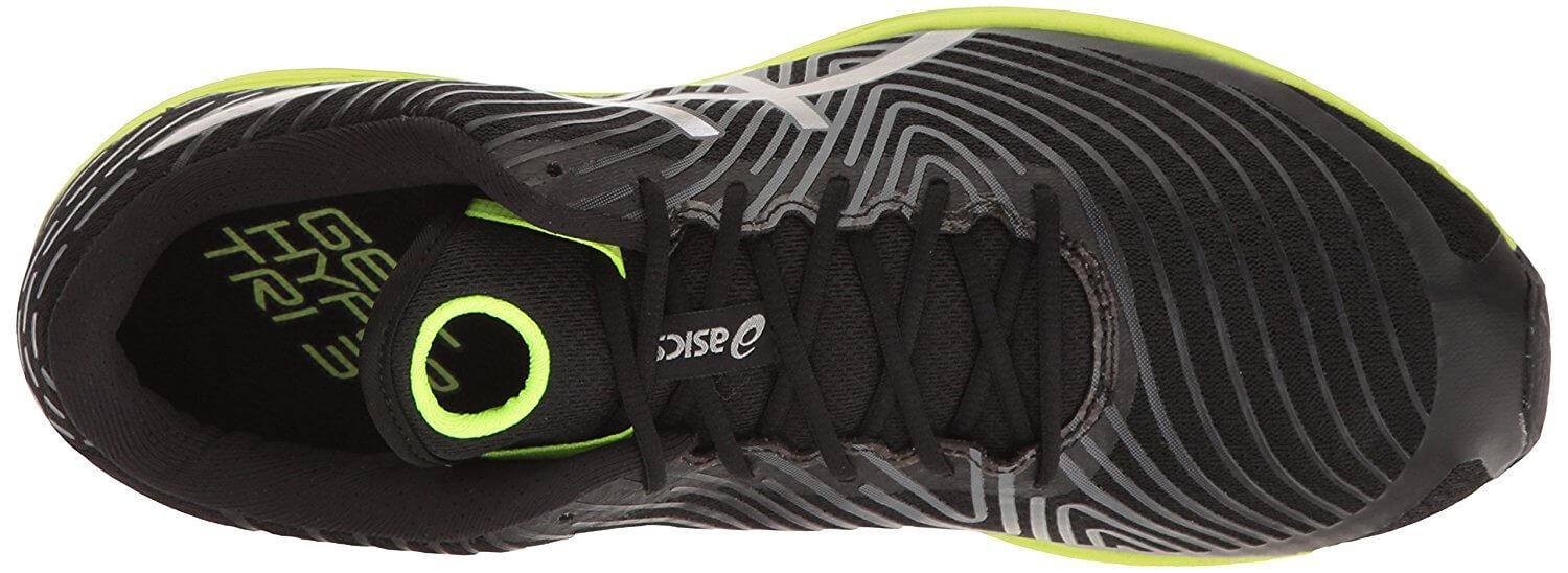 Top of Asics Gel Hyper Tri 3 shows secure lacing system