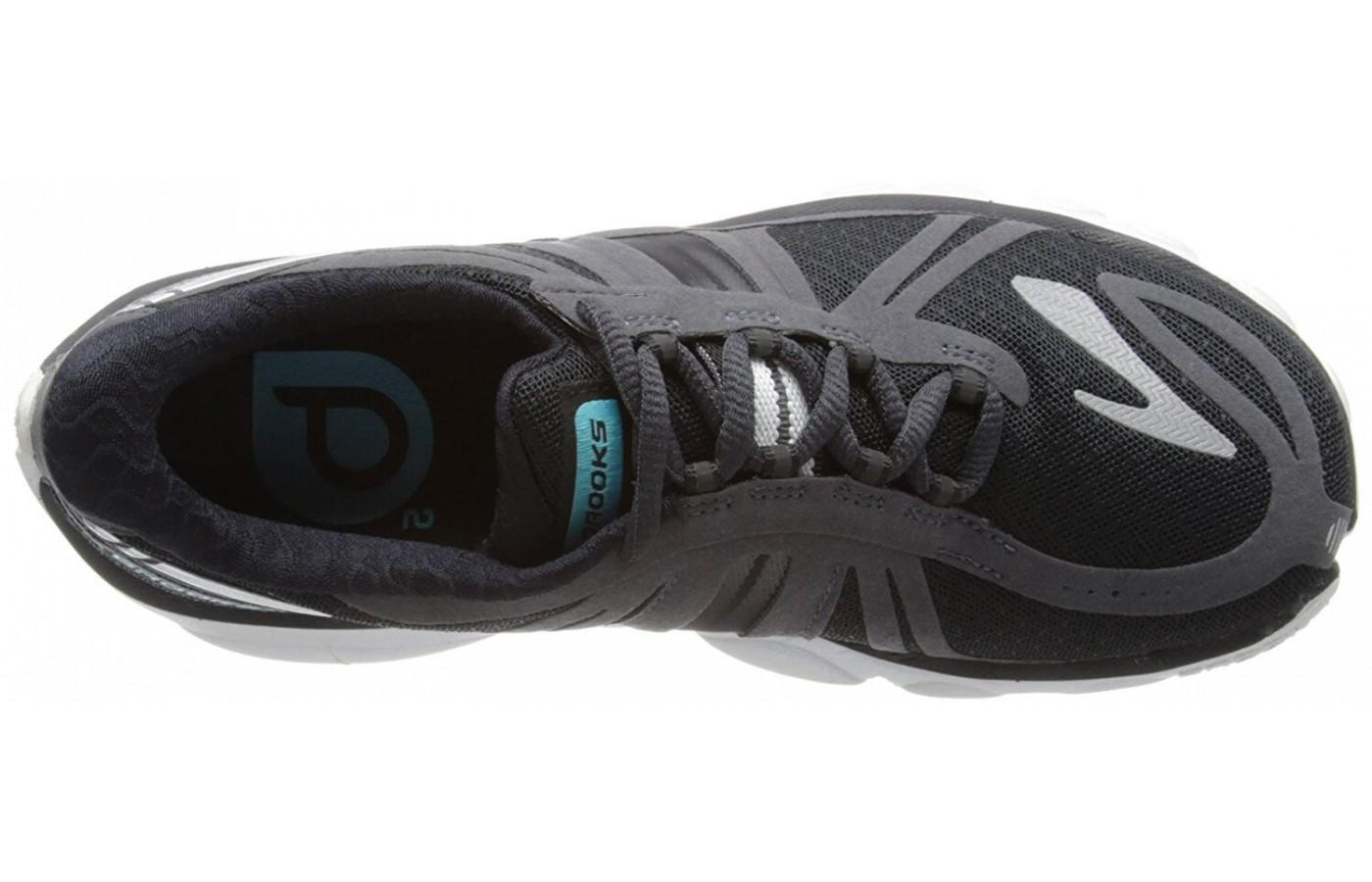 Highly breathable upper of the Brooks PureCadence