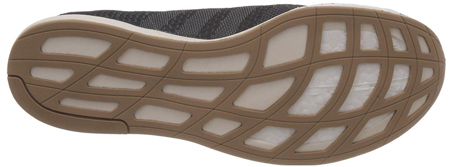Durable outsole can last through miles of road running