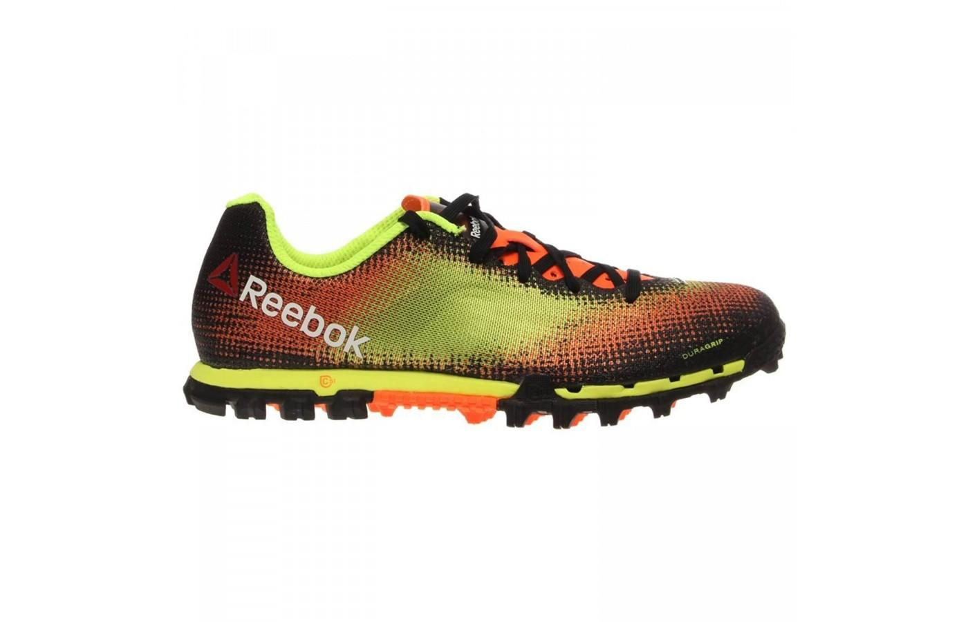 The H2O drainage ports quickly remove water and mud from the Reebok All Terrain Sprint.