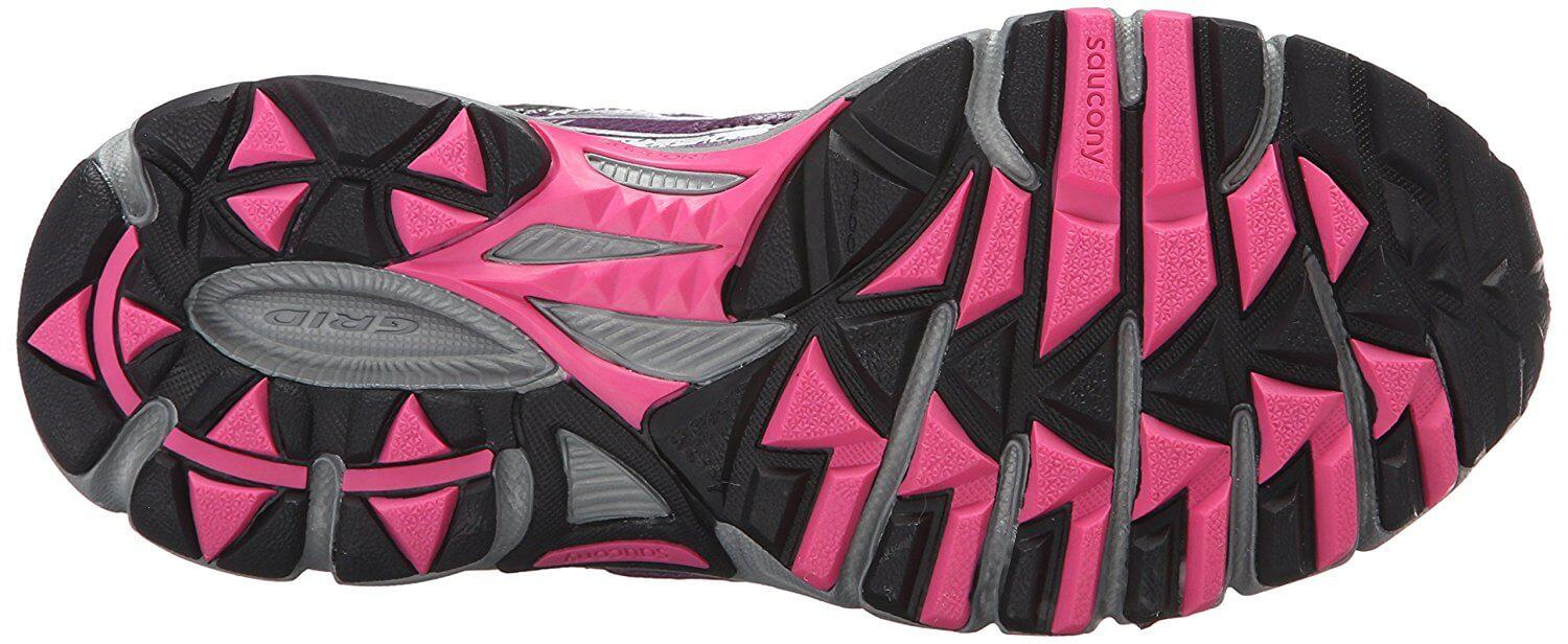 the outsole of the Saucony Cohesion TR 9 has triangular lugs for traction on trails