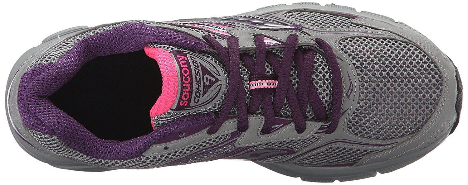 the upper of the Saucony Cohesion TR 9 provides support, breathability and protection