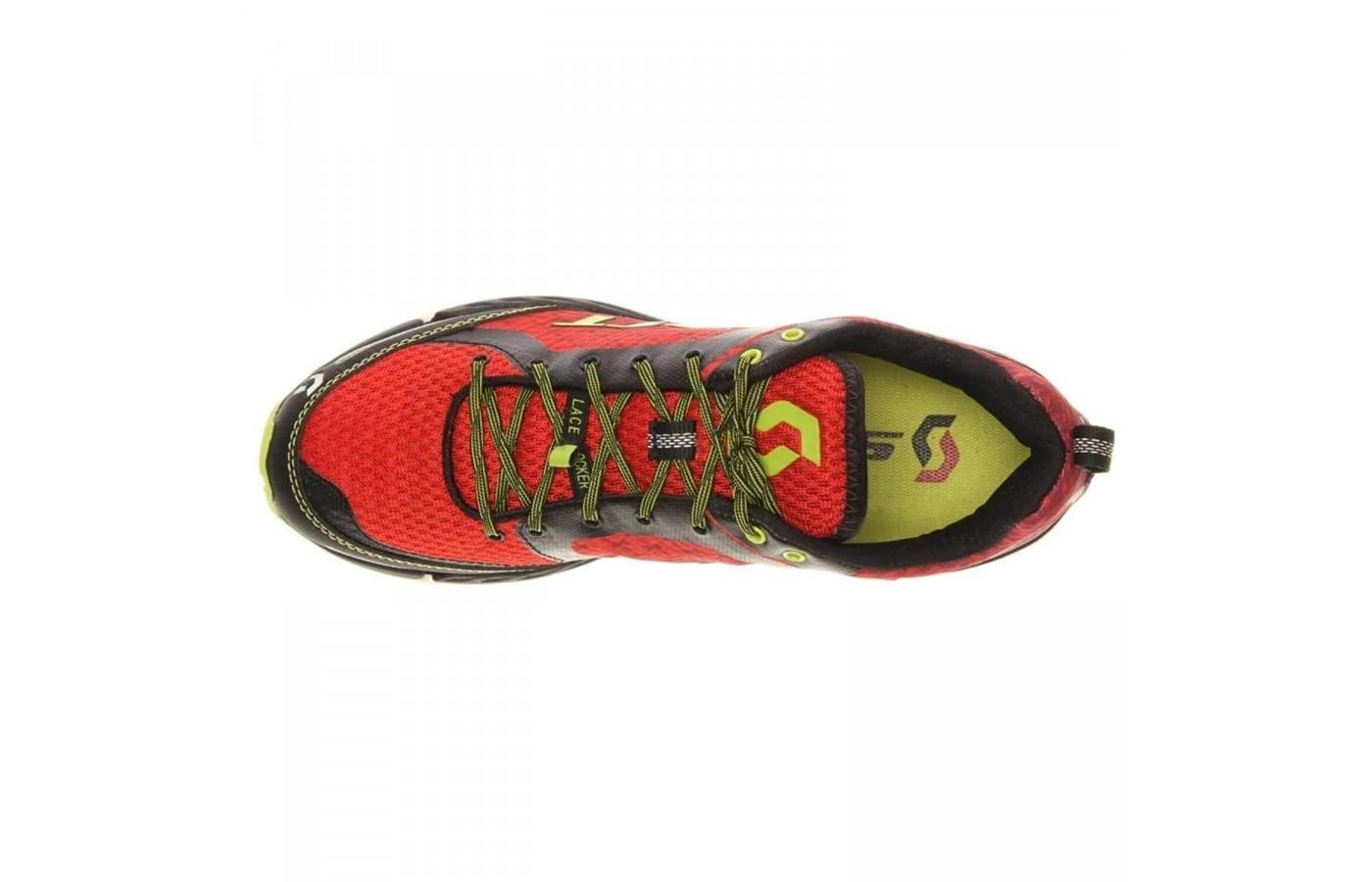 Breathable mesh upper and lock laces of the Scott T2 Kinabalu 2.0