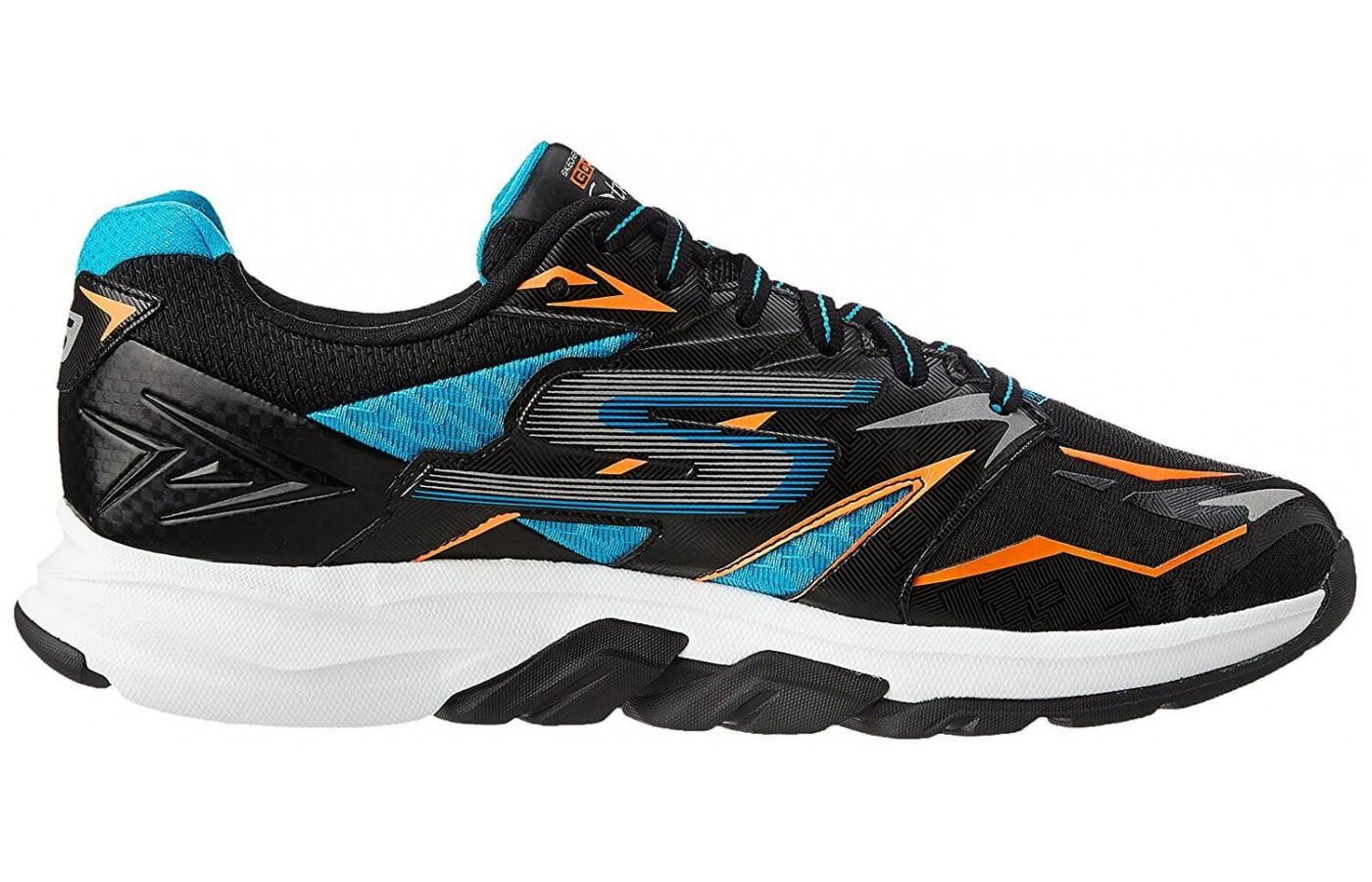 the Skechers GOrun Strada has a Layered Support Zone to stabilize the midfoot