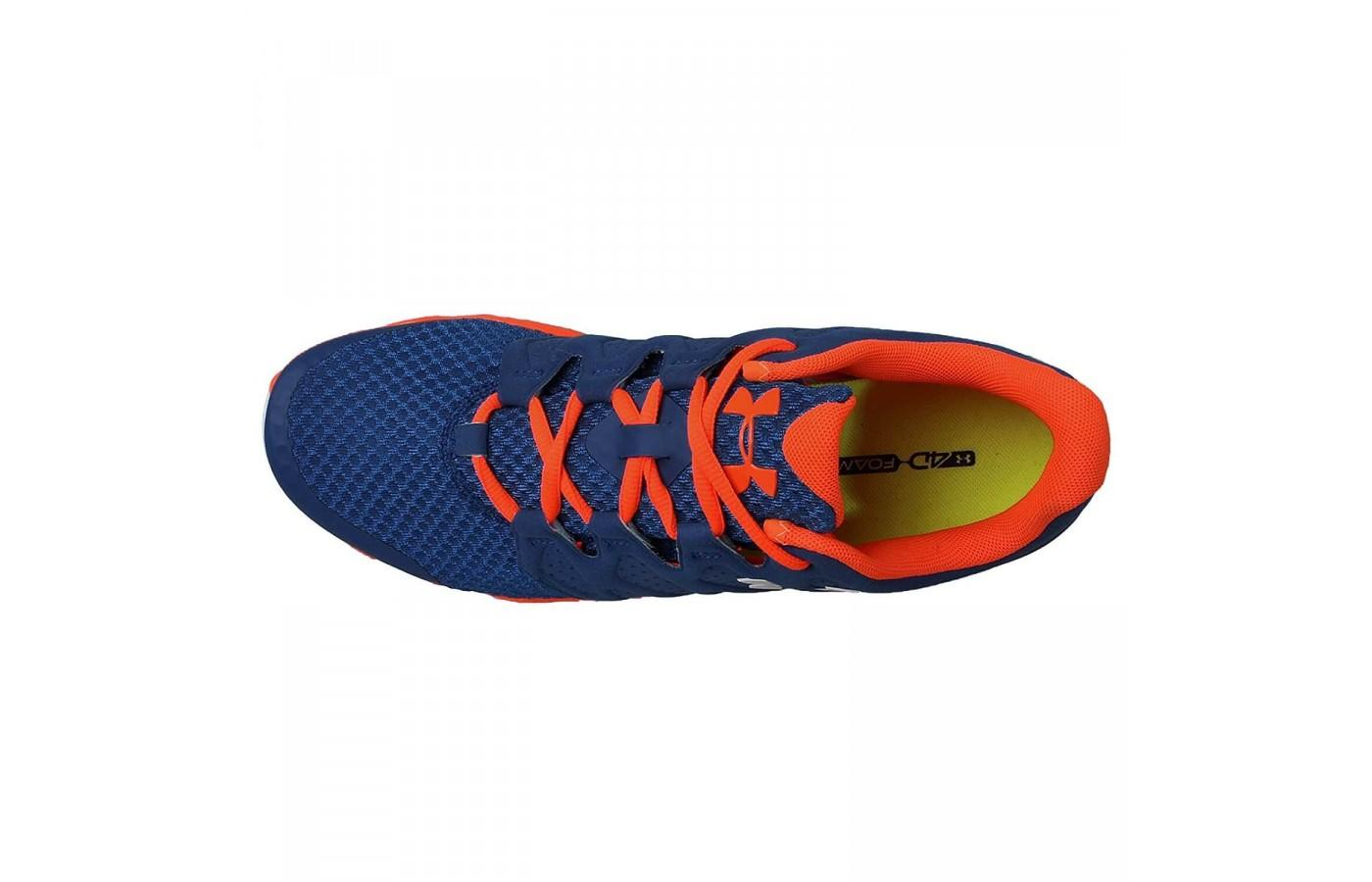 The upper on the Under Armour Micro G Optimum is breathable and flexible